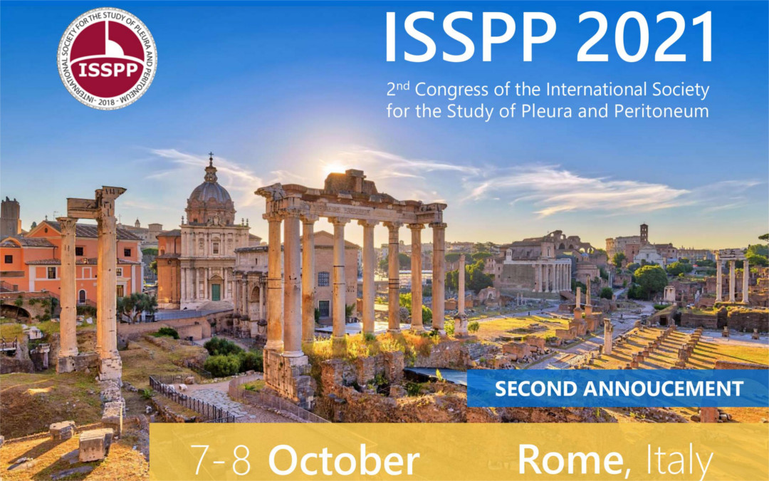 ISSPP 2021- 2nd Congress in Rome LAST WEEKS TO REGISTER on www.isspp21.org