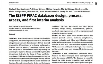ISSPP PIPAC database: first peer-reviewed publication online